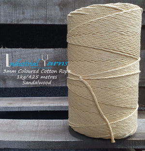 3mm Twisted Rope Sandalwood