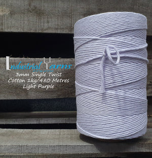 3mm Single Twist Cotton Light Purple