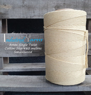 3mm Single Twist Cotton Sandalwood