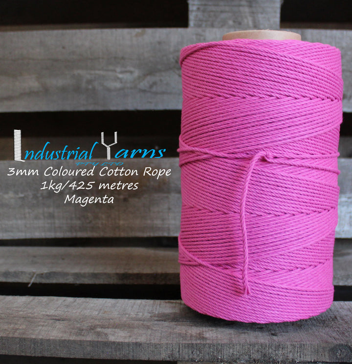 3mm Twisted Rope Magenta