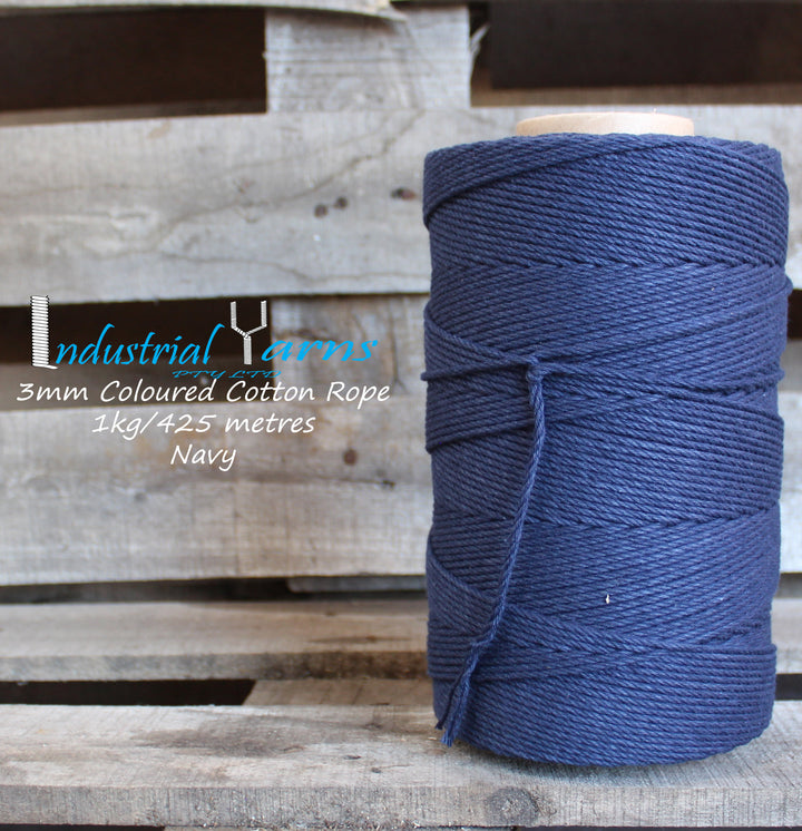 3mm Twisted Rope Navy