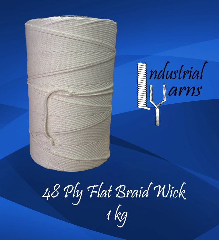 48 Ply Flat Braid Wick Large Roll
