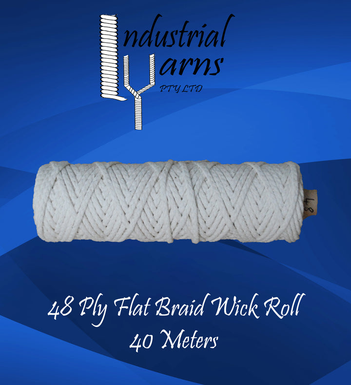 48 Ply Flat Braid Wick Small Roll