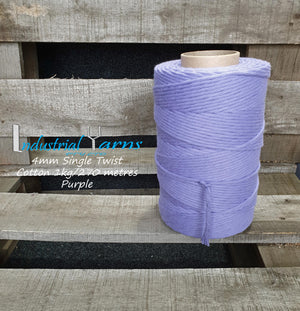 4mm Single Twist Cotton Purple