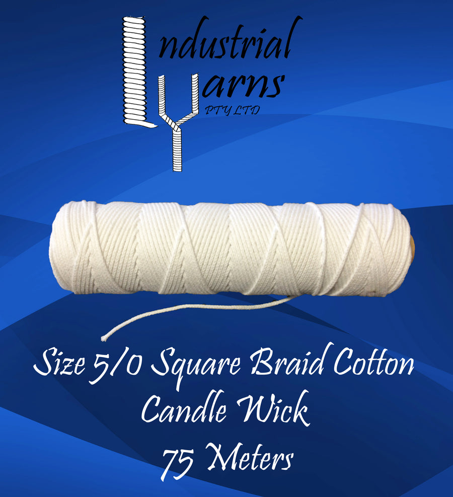 5/0 Square Braid Wick Small Roll