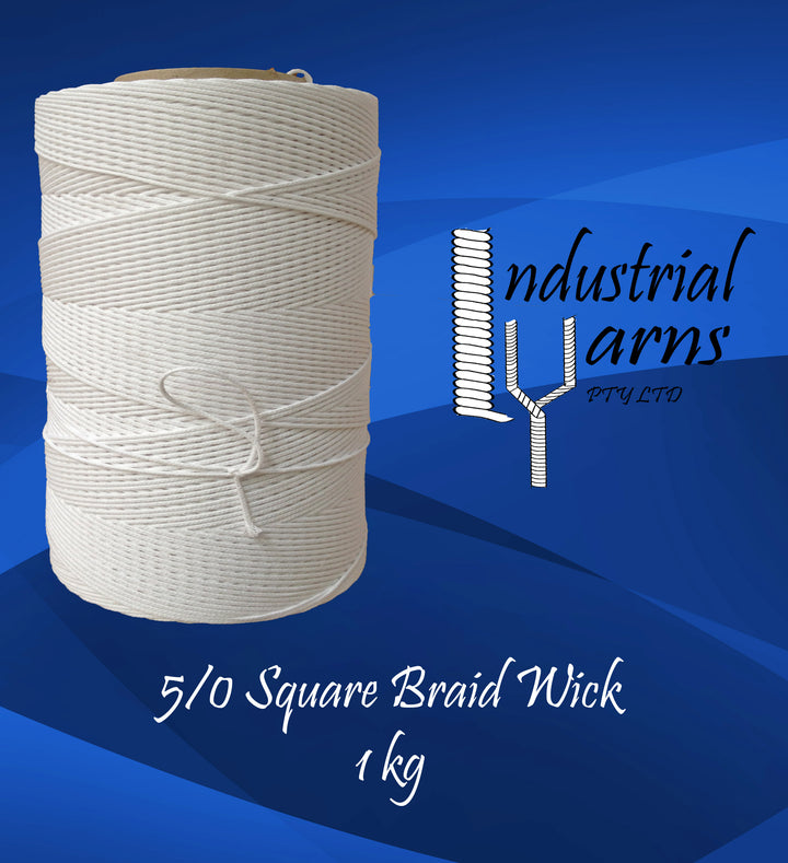 5/0 Square Braid Wick Large Roll