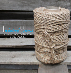 5.5mm Twisted Jute Twine Rope
