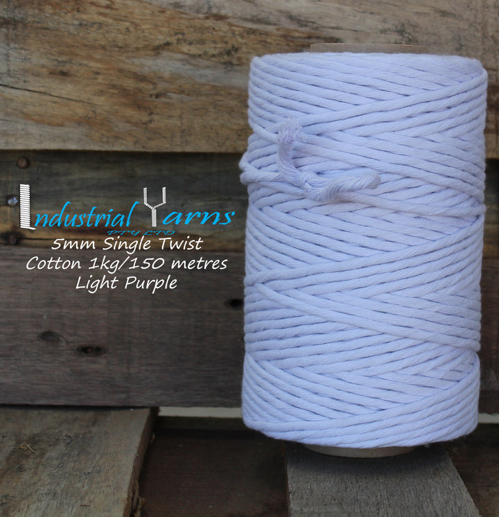 5mm Single Twist Cotton Light Purple