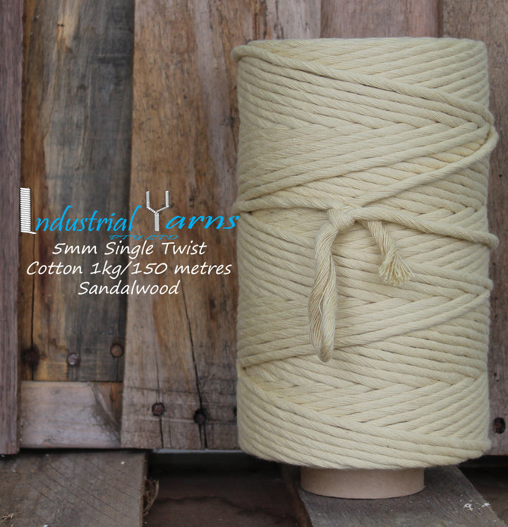 5mm Single Twist Cotton Sandalwood