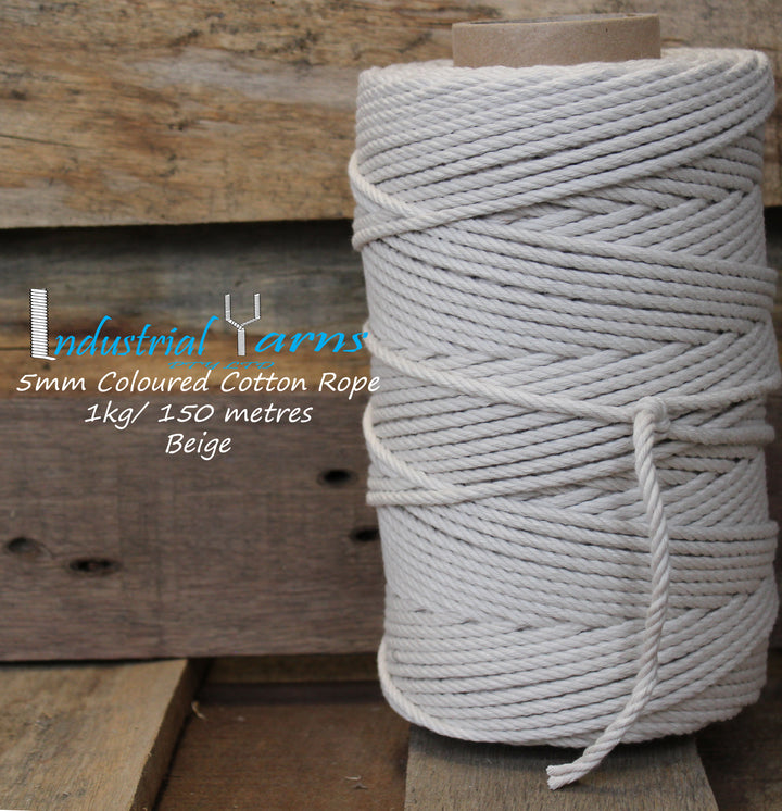 5mm Twisted Rope Beige