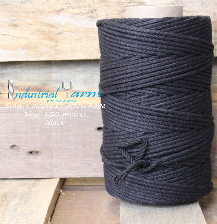 5mm Twisted Rope Black