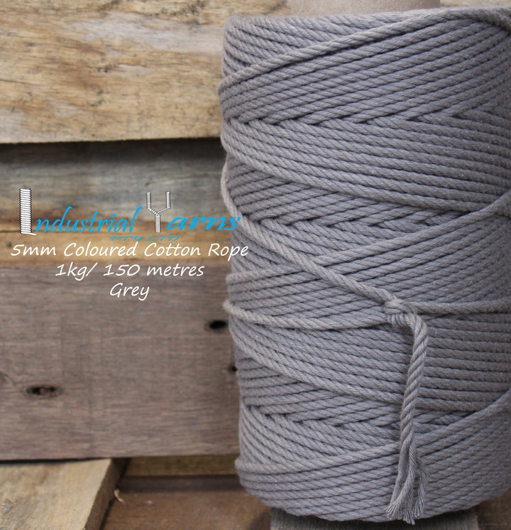 5mm Twisted Rope Grey