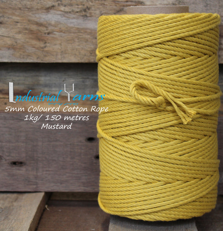 5mm Twisted Rope Mustard