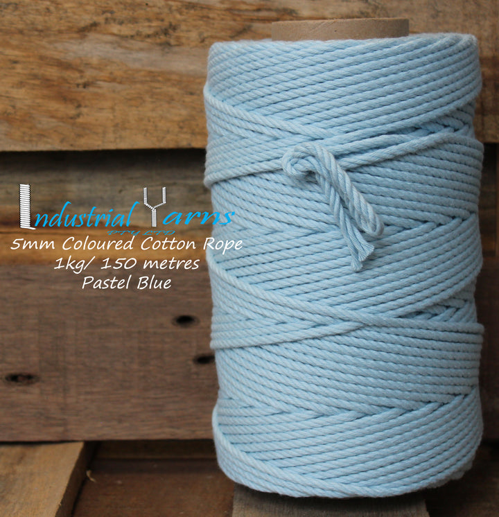 5mm Twisted Rope Pastel Blue