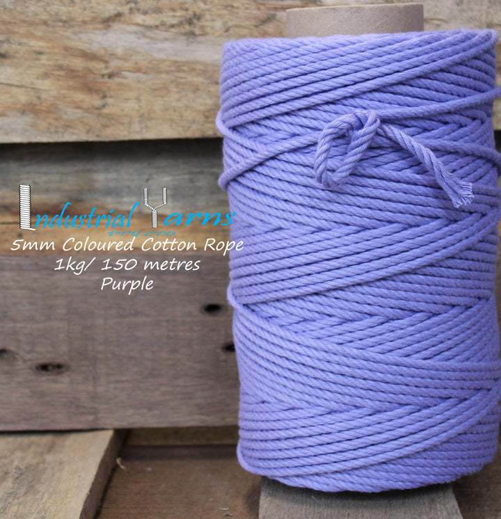 5mm Twisted Rope Purple