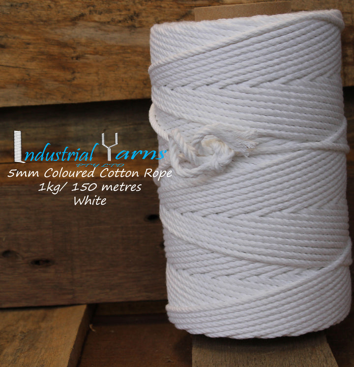 5mm Twisted Rope White