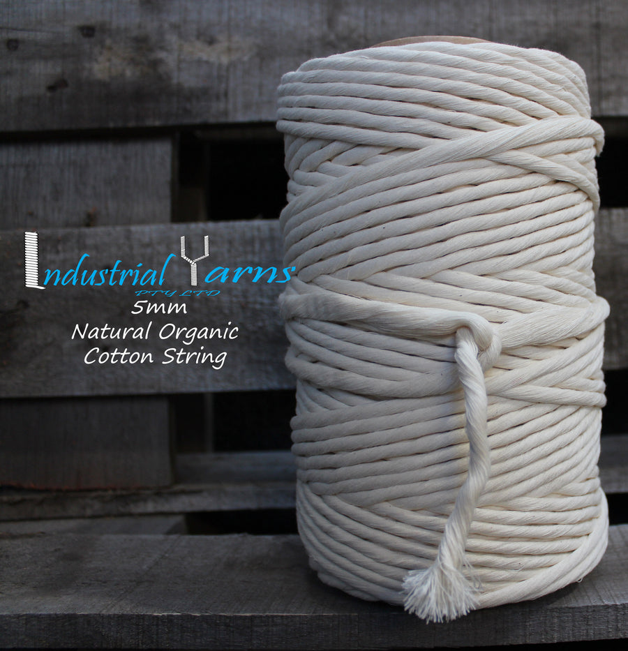 Organic 5mm Cotton String 1kg