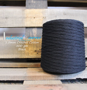 1.5mm Twisted Cotton Black