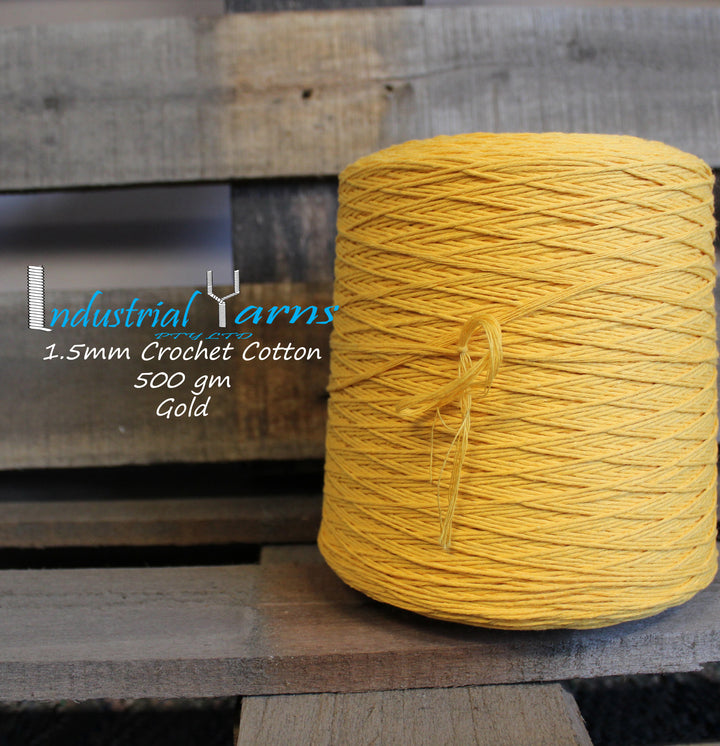1.5mm Twisted Cotton Gold
