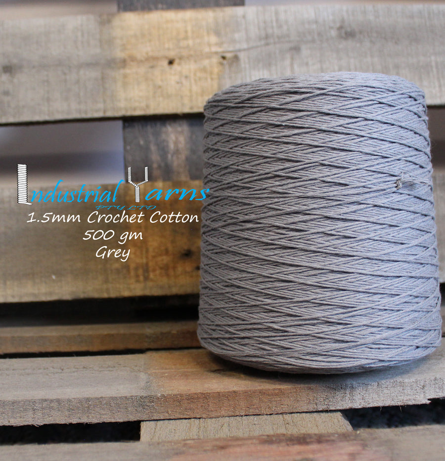 1.5mm Twisted Cotton Grey