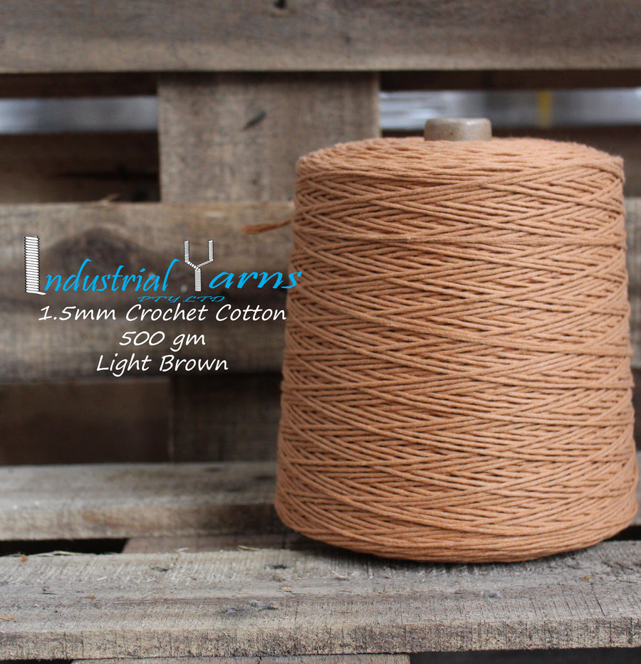 1.5mm Twisted Cotton Light Brown