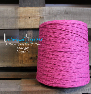 1.5mm Twisted Cotton Magenta