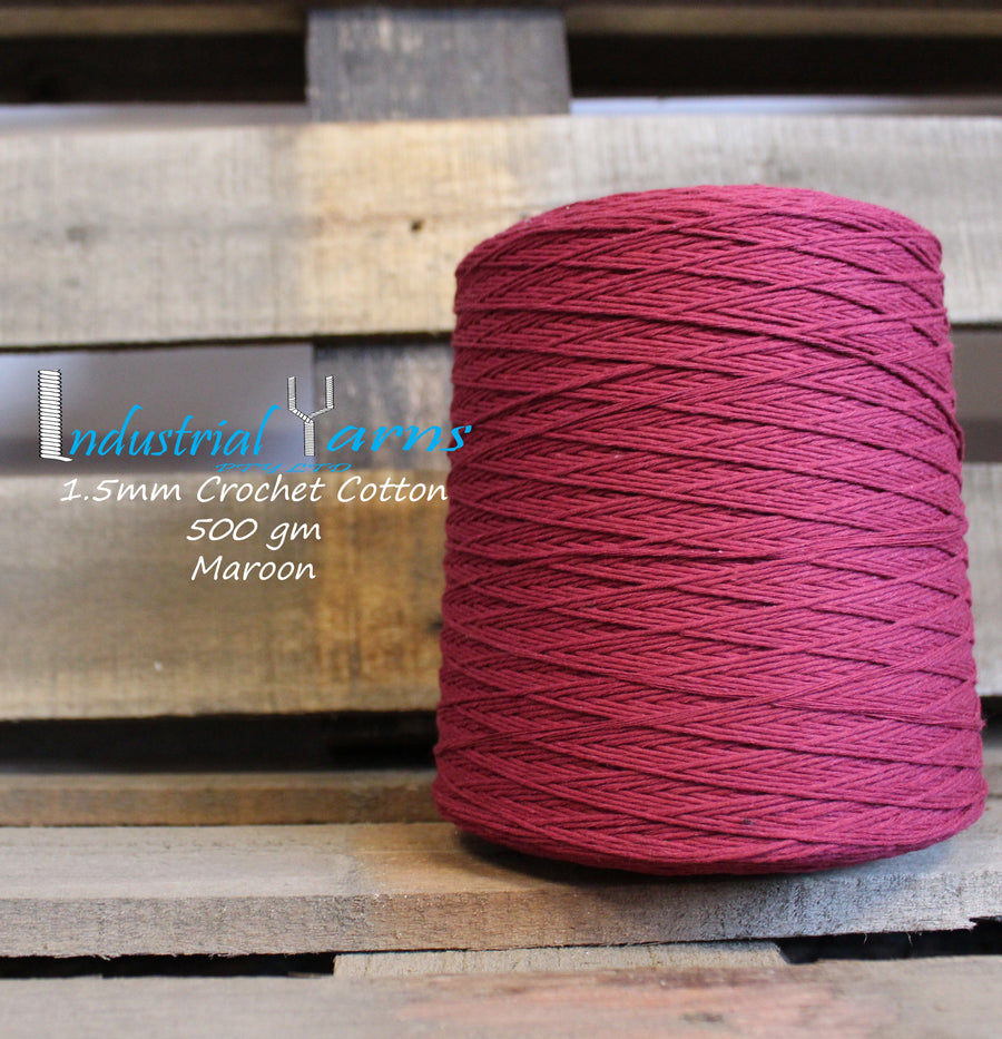 1.5mm Twisted Cotton Maroon