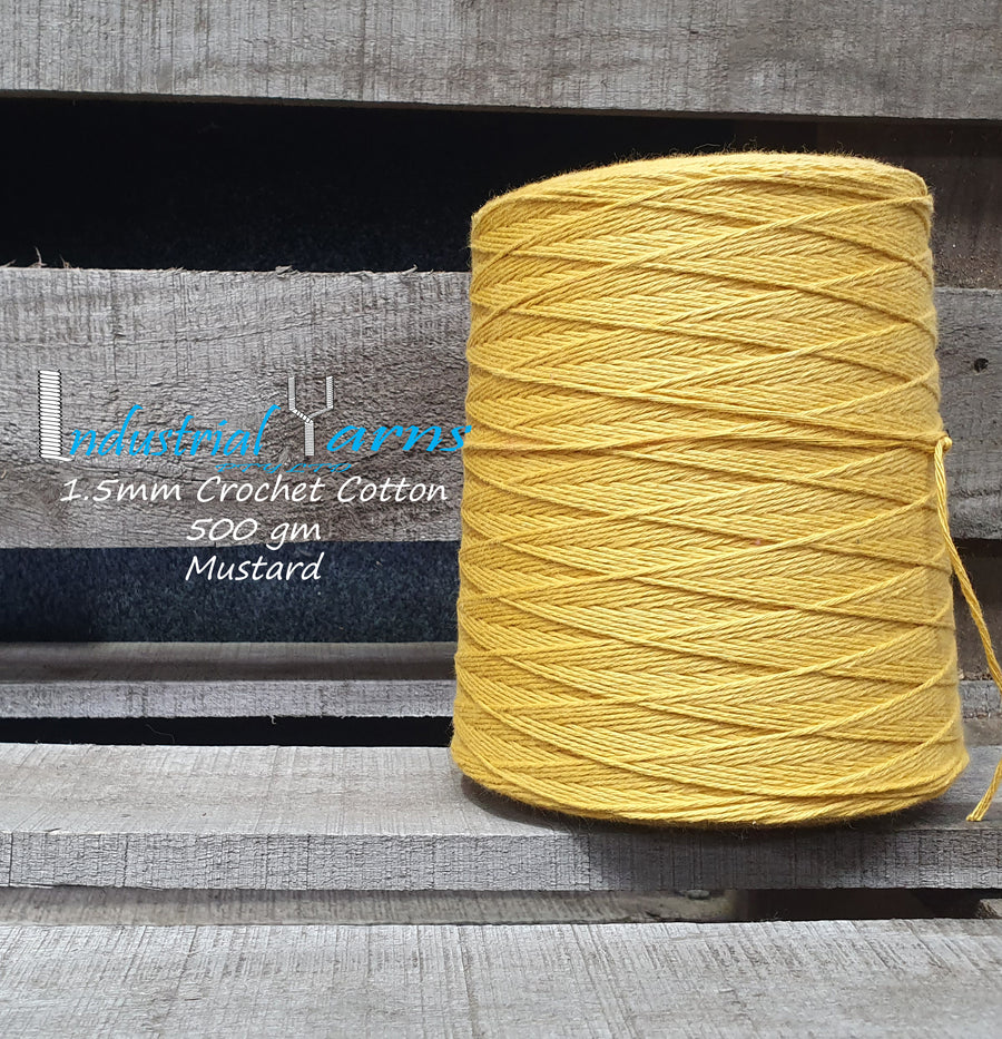 1.5mm Twisted Cotton Mustard