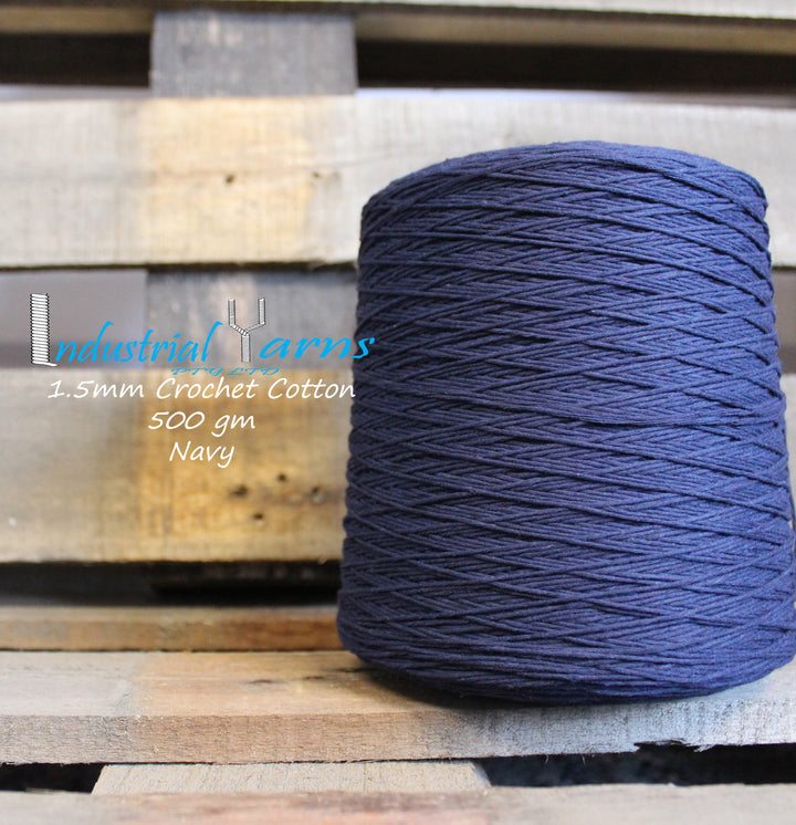 1.5mm Twisted Cotton Navy