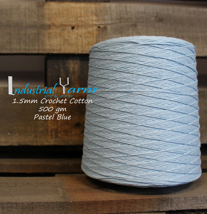 1.5mm Twisted Cotton Pastel Blue