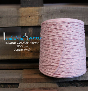 1.5mm Twisted Cotton Pastel Pink