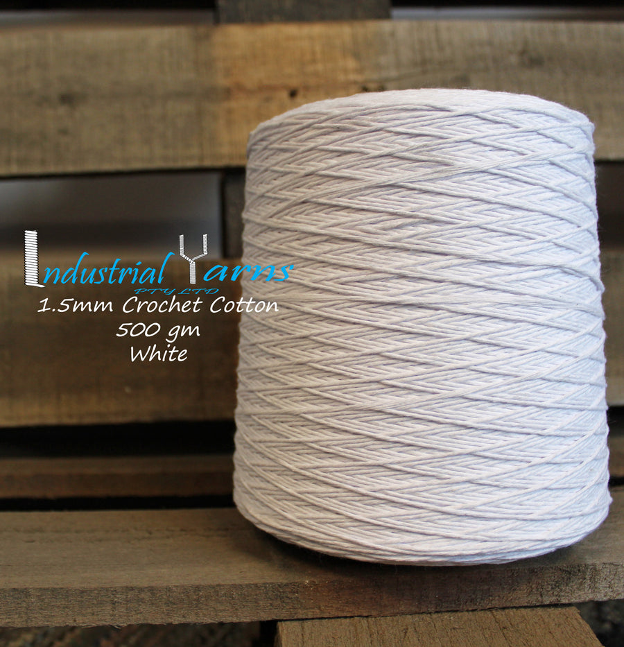 1.5mm Twisted Cotton White