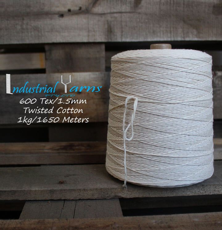 1.5mm Twisted Natural Cotton