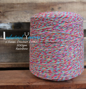 1.5mm Twisted Cotton Rainbow