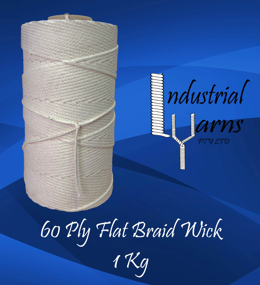 60 Ply Flat Braid Wick Large Roll
