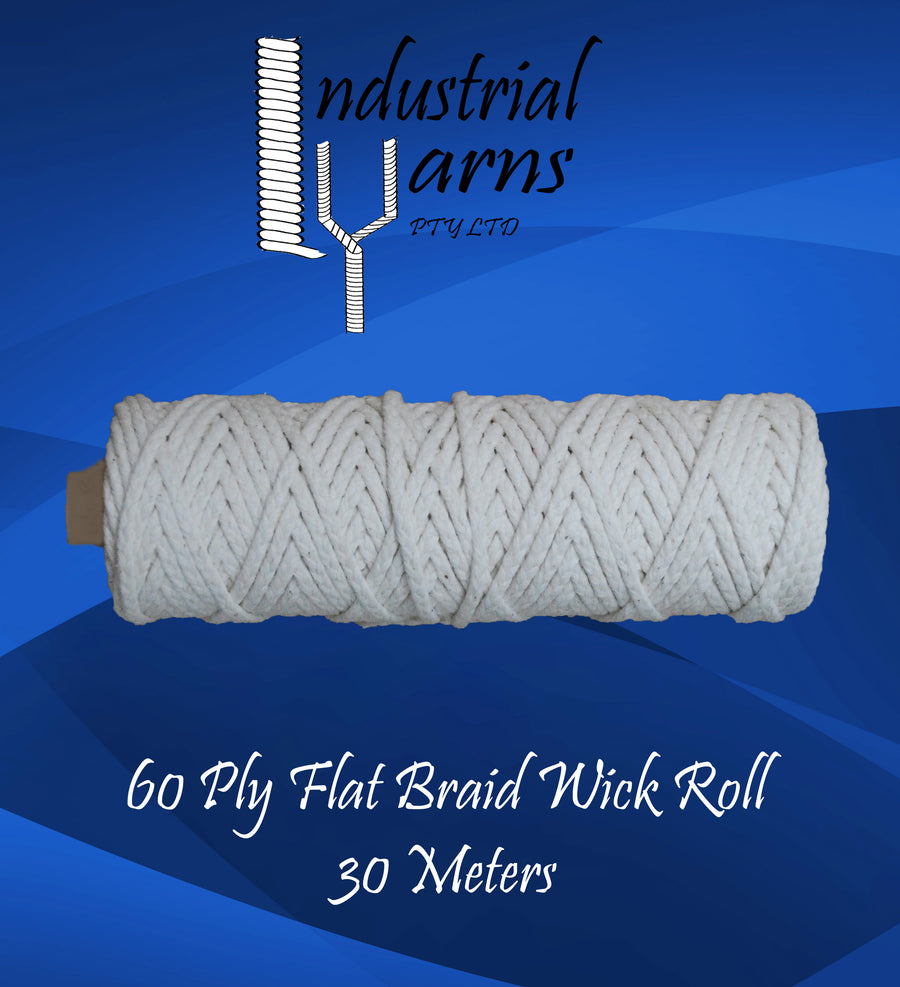 60 Ply Flat Braid Wick Small Roll
