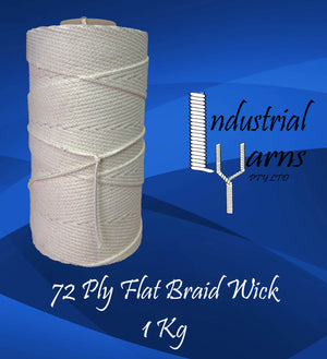 72 Ply Flat Braid Wick Large Roll