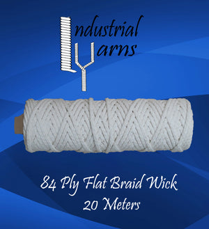 84 Ply Flat Braid Wick Small Roll