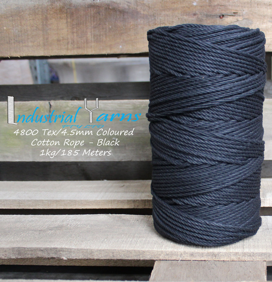 4.5mm Twisted Rope Black