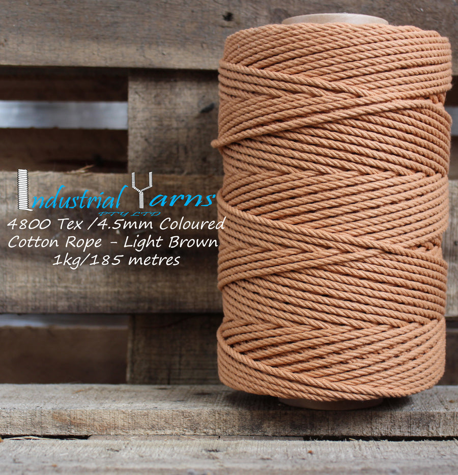 4.5mm Twisted Rope Light Brown