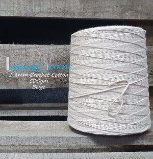 1.8mm Twisted Cotton Beige