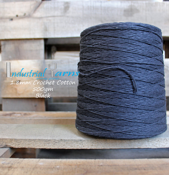 1.8mm Twisted Cotton Black
