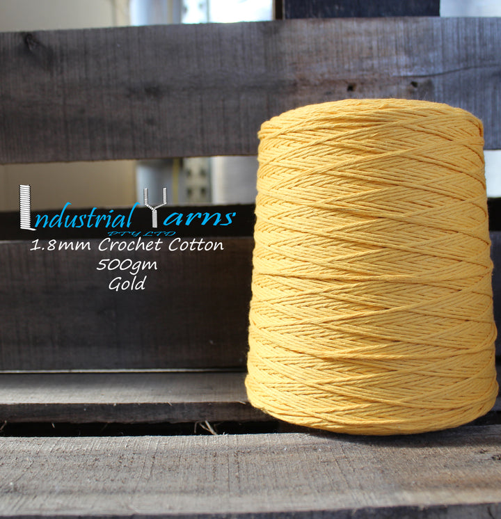1.8mm Twisted Cotton Gold