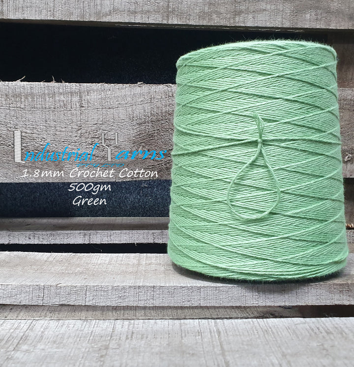 1.8mm Twisted Cotton Green