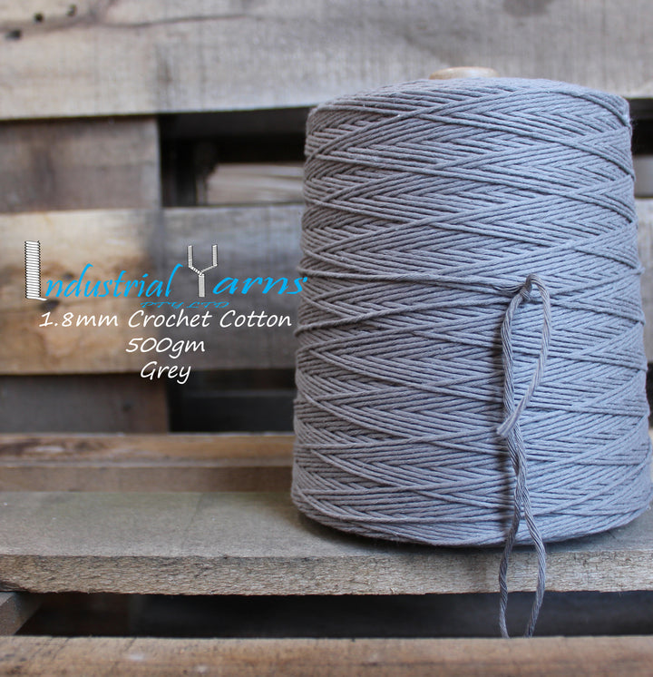 1.8mm Twisted Cotton Grey