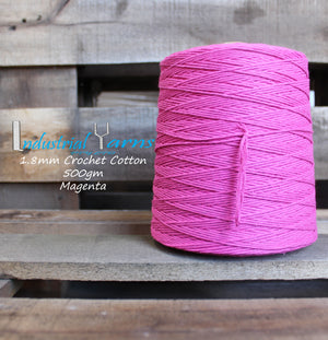 1.8mm Twisted Cotton Magenta