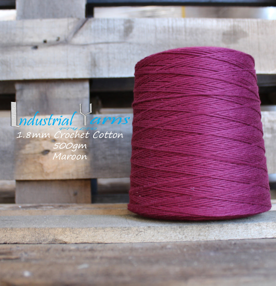 1.8mm Twisted Cotton Maroon