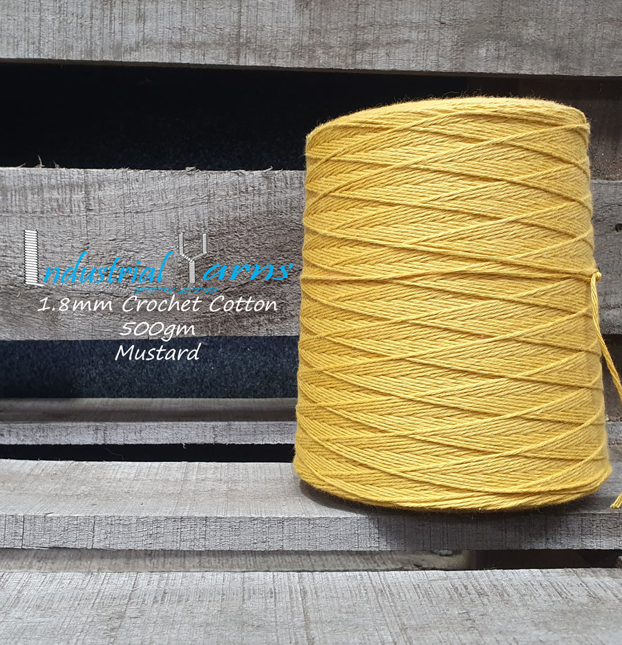1.8mm Twisted Cotton Mustard