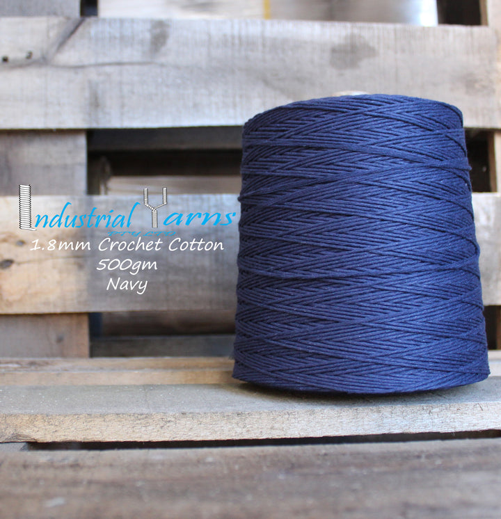 1.8mm Twisted Cotton Navy