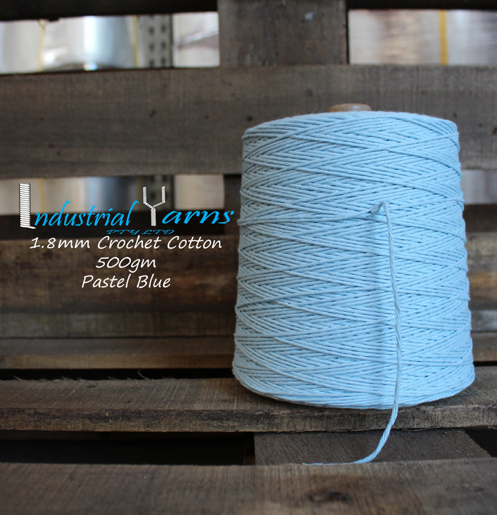 1.8mm Twisted Cotton Pastel Blue